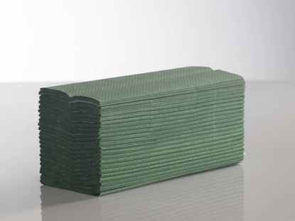 Picture of Green C-Fold Towel (1ply, 23 x 31cm, Pack of 3000)