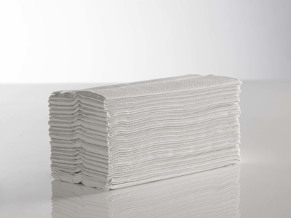 Picture of White C-Fold Towel (2ply, 23cm x 31cm, Pack of 2430)