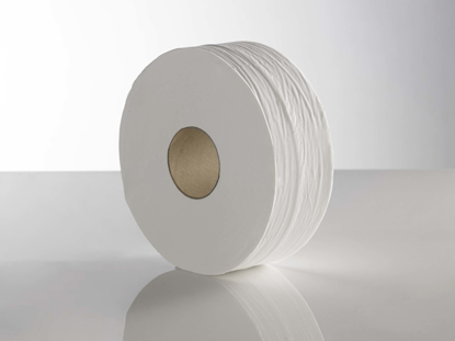 Picture of White Mini Jumbo Rolls (2ply, 150m, Pack of 12)
